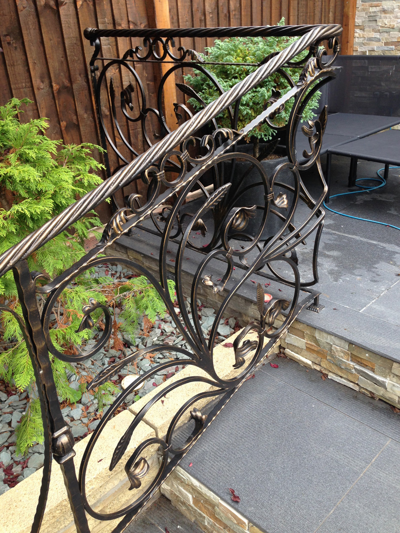 Outdoor decorative railing kp steelcraft Decorative railings